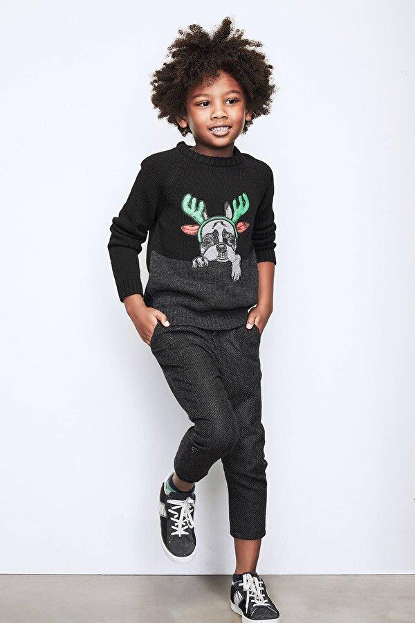 Resim Erkek Çocuk Gri Pantolon