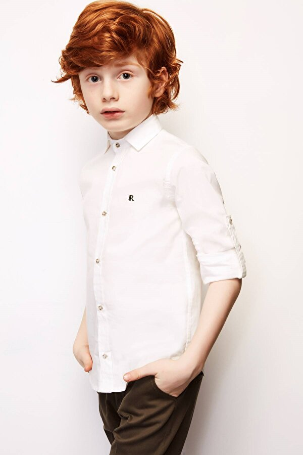 Resim Erkek Çocuk Ekru Gömlek