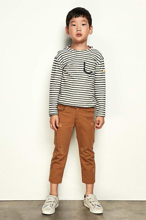 Resim Erkek Çocuk Taba Pantolon