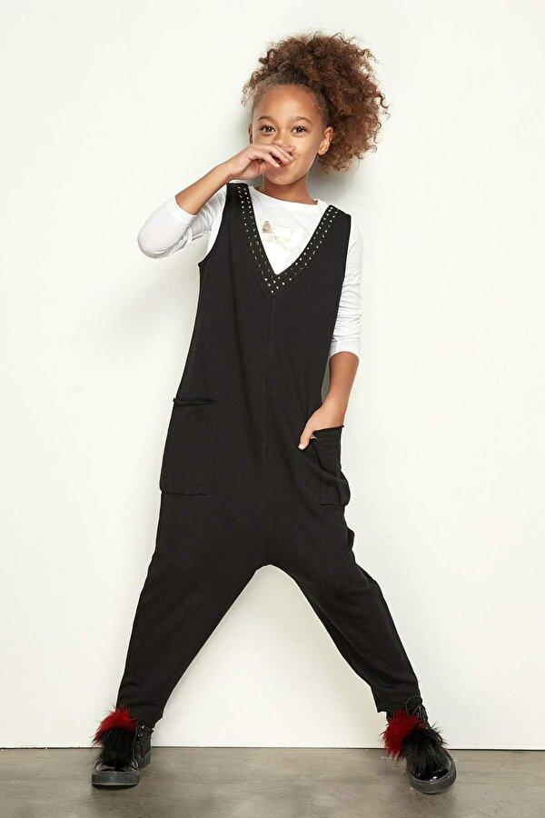Resim Kız Çocuk Siyah Tulum