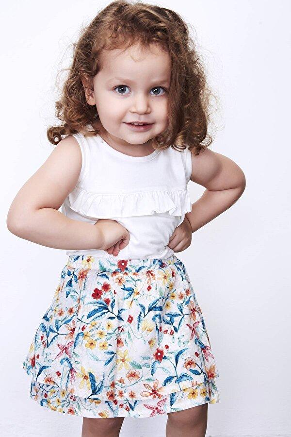 Resim Kız Bebek Desenli Etek