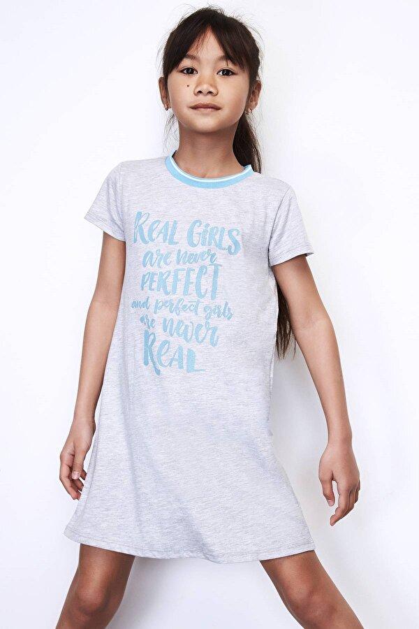 Resim Kız Çocuk Gri Elbise