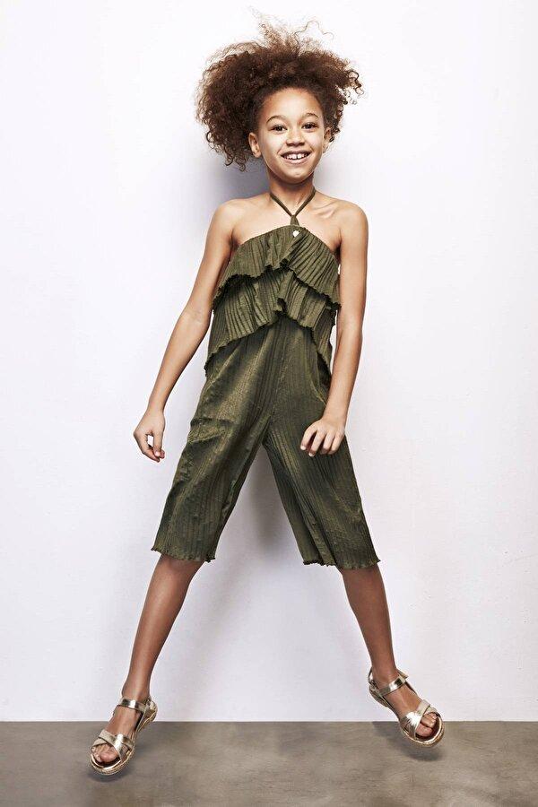 Resim Kız Çocuk Haki Tulum