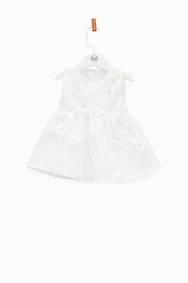 Resim Kız Bebek Beyaz Elbise