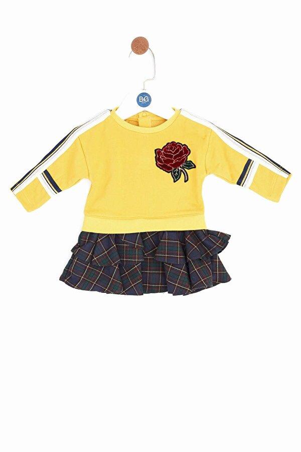 Resim Kız Bebek Hardal Elbise