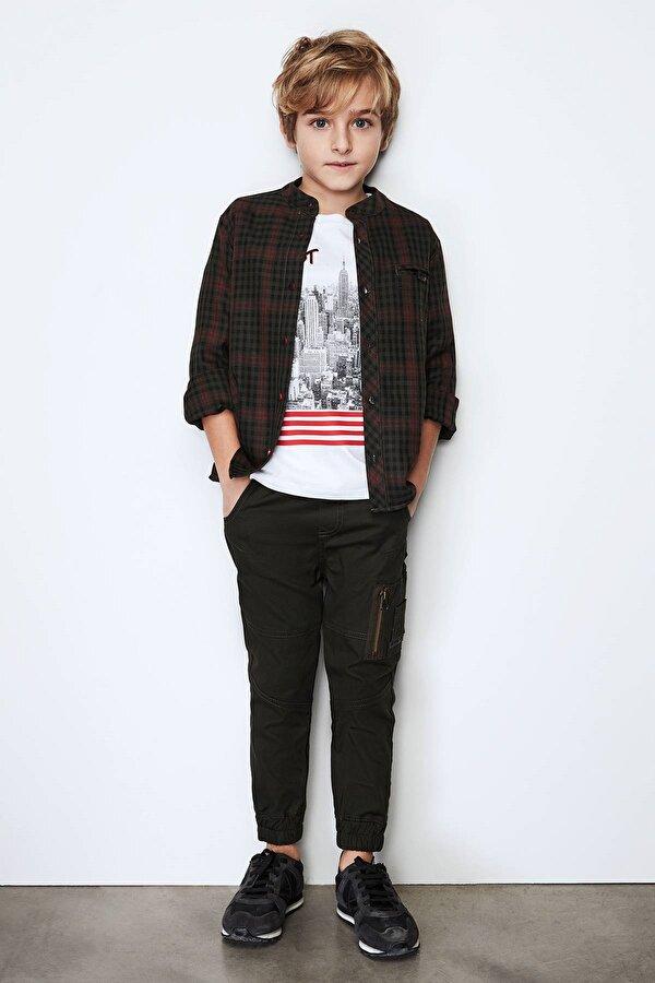 Resim Erkek Çocuk Haki Pantolon
