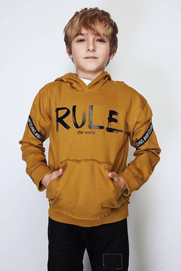 Resim Erkek Çocuk Hardal S-Shirt