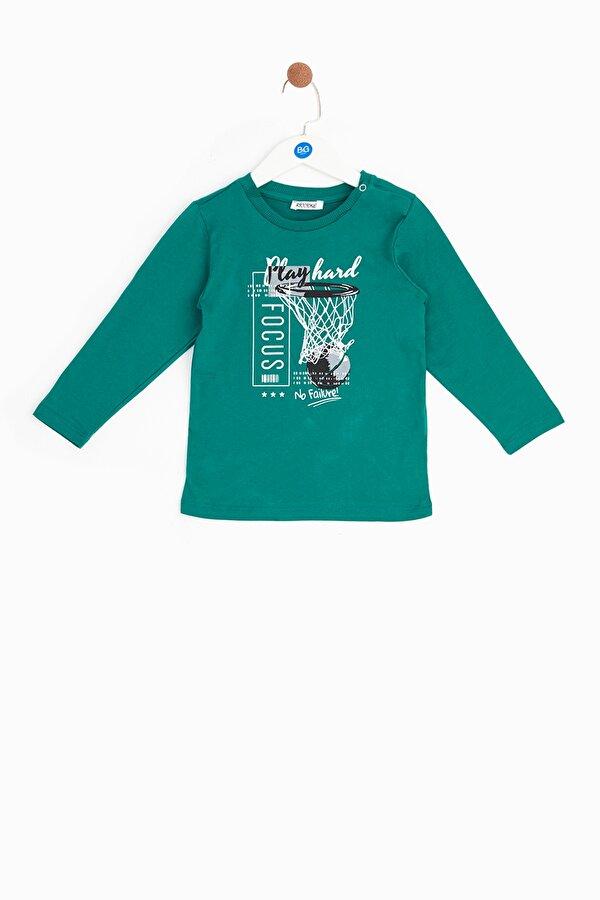 Resim Erkek Bebek Yeşil T-Shirt