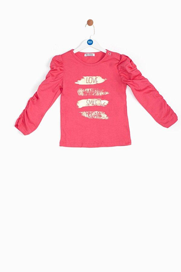 Resim Kız Bebek Fuşya T-Shirt