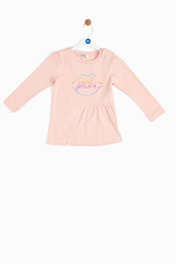 Resim Kız Bebek Somon T-Shirt