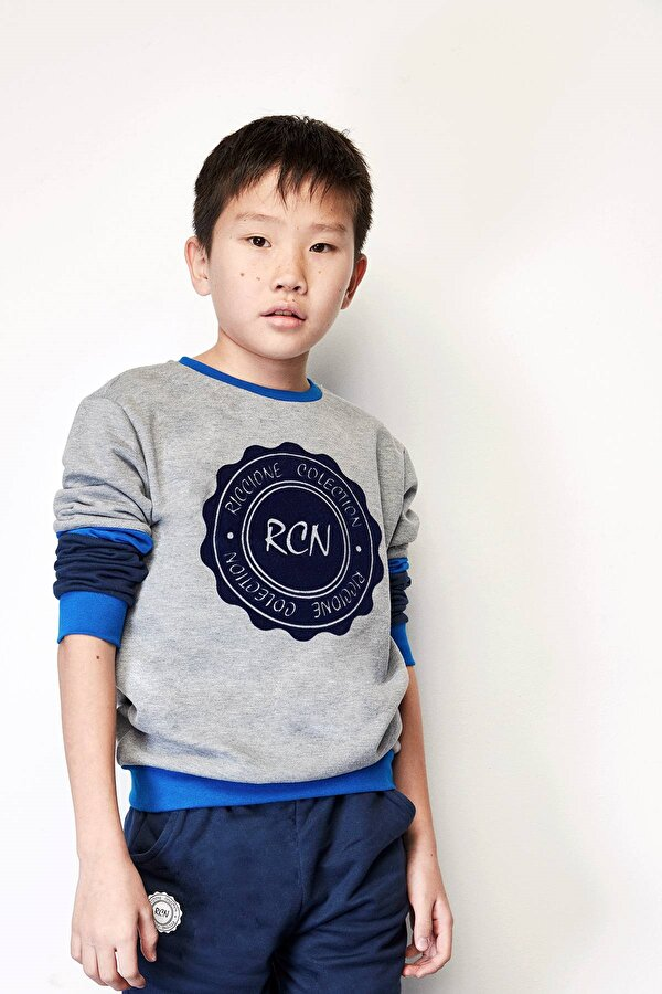 Resim Erkek Çocuk Gri S-Shirt