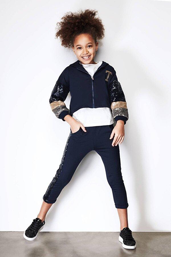 Resim Kız Çocuk Lacivert Eşofman Altı