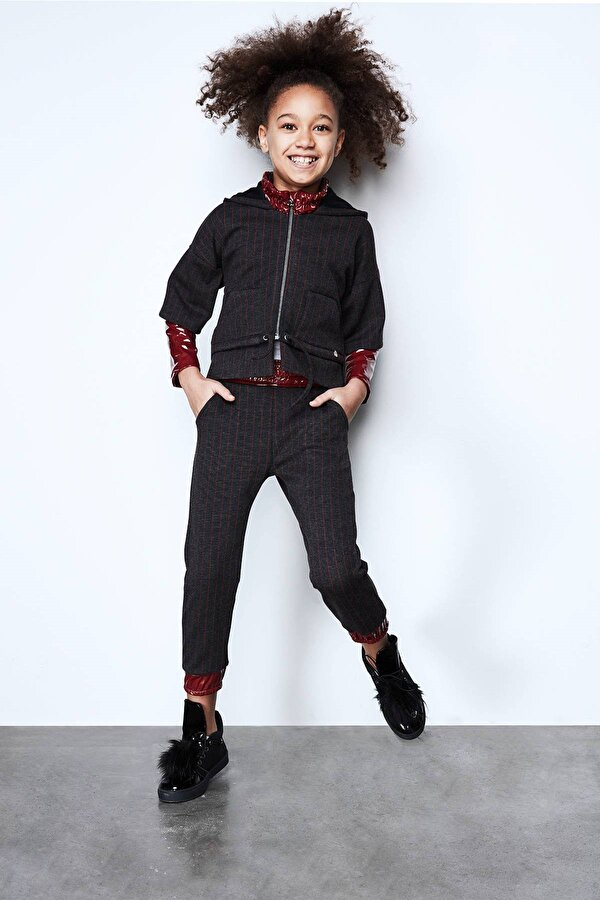 Resim Kız Çocuk Antrasit Eşofman Altı