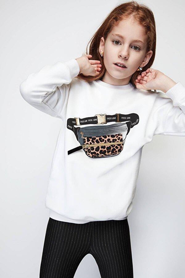 Resim Kız Çocuk Ekru S-Shirt