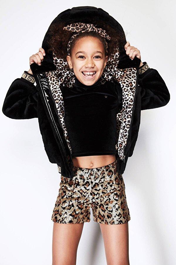 Resim Kız Çocuk Siyah Kürk