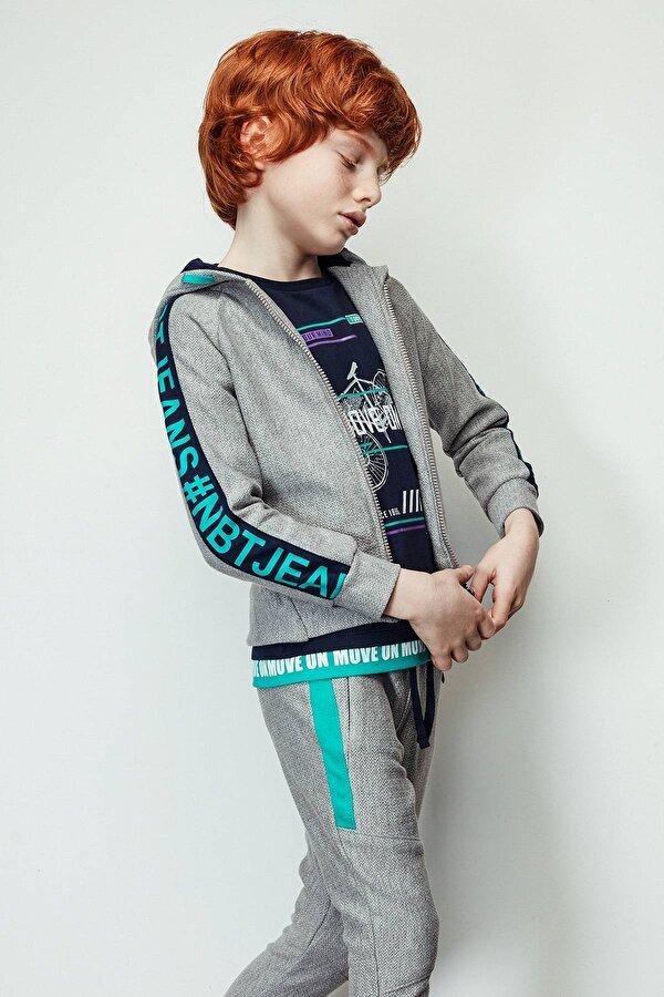 Resim Erkek Çocuk Gri Eşofman Üstü