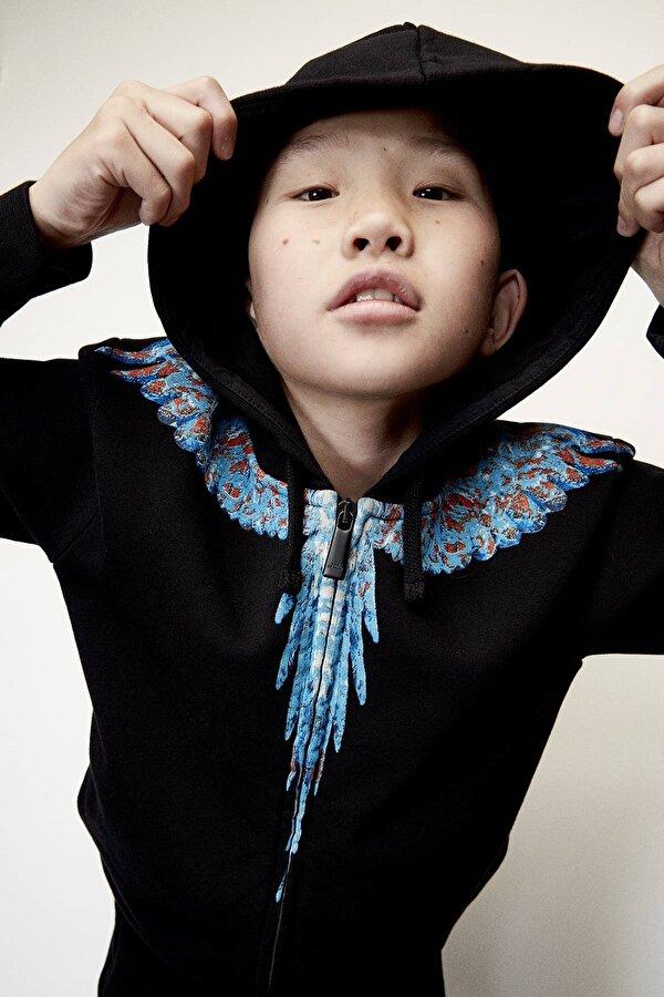 Resim Erkek Çocuk Siyah Eşofman Üstü