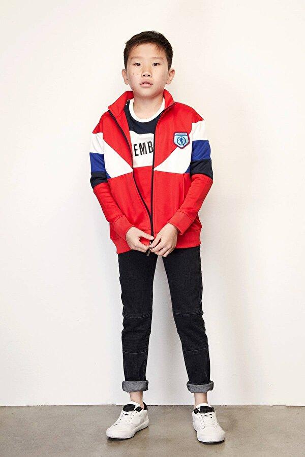 Resim Erkek Çocuk Kırmızı S-Shirt
