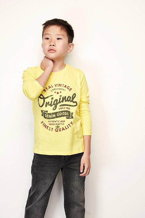 Resim Erkek Çocuk Sarı S-Shirt
