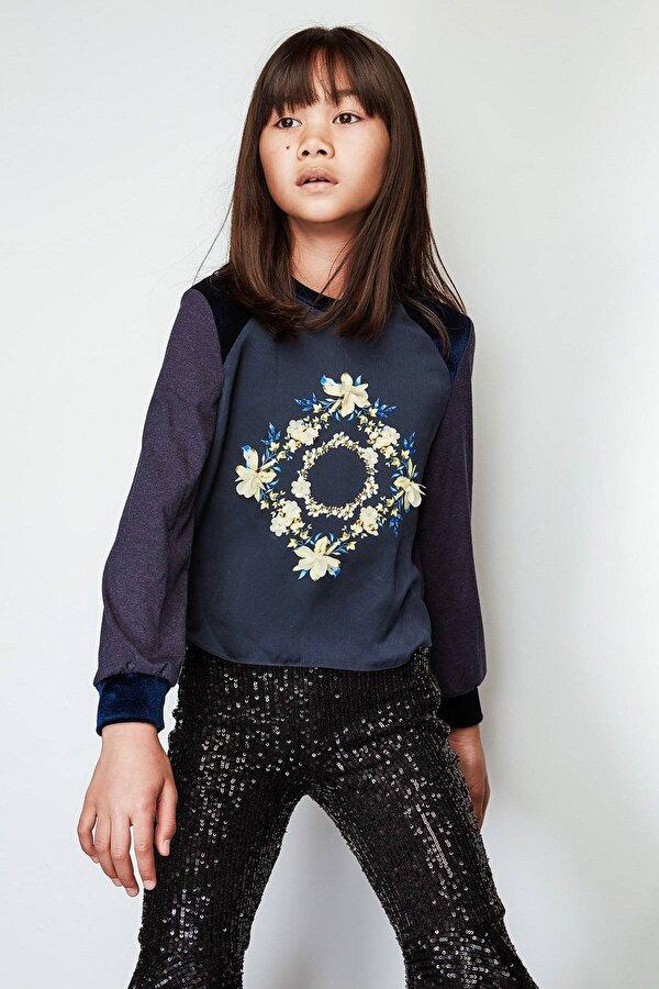 Resim Kız Çocuk Lacivert Bluz