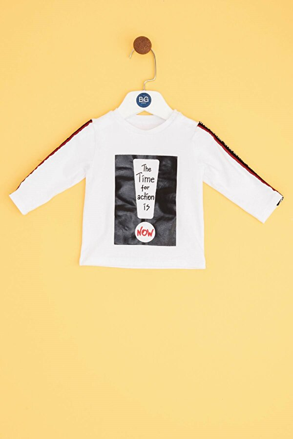 Resim Erkek Bebek Beyaz S-Shirt