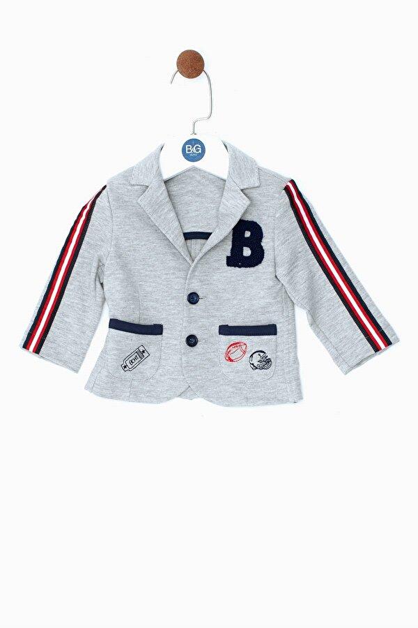 Resim Erkek Bebek Gri Melanj Ceket