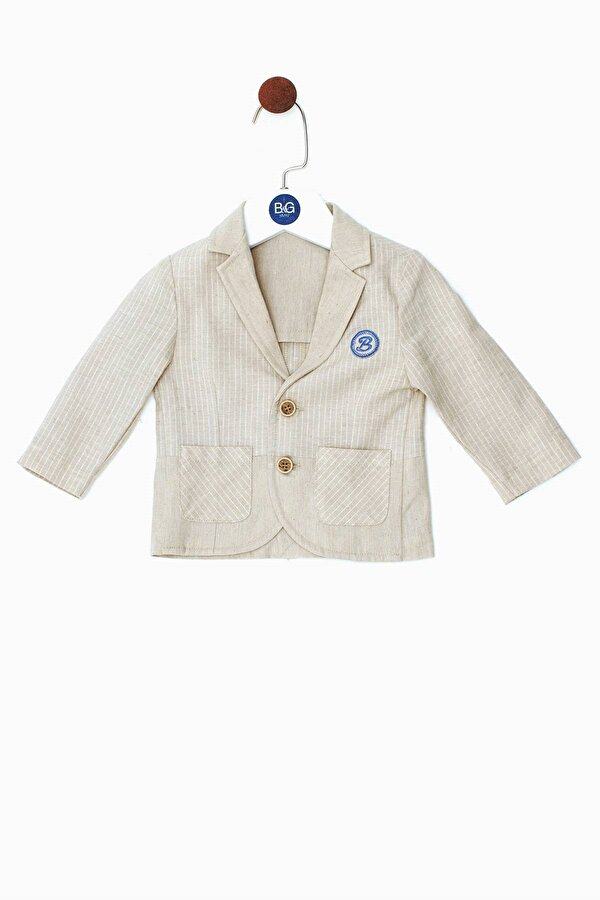 Resim Erkek Bebek Bej Ceket