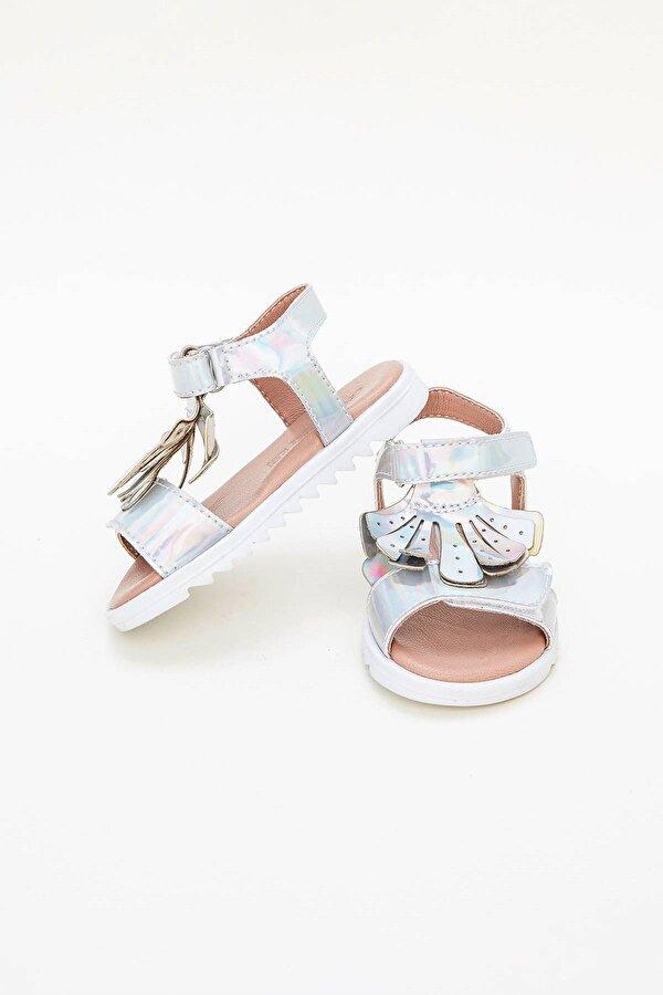 Resim Kız Bebek Gümüş Sandalet
