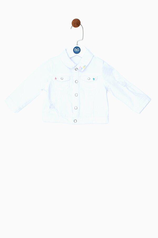 Resim Kız Bebek Beyaz Ceket