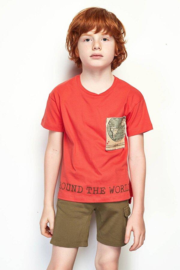 Resim Erkek Çocuk Haki Şort
