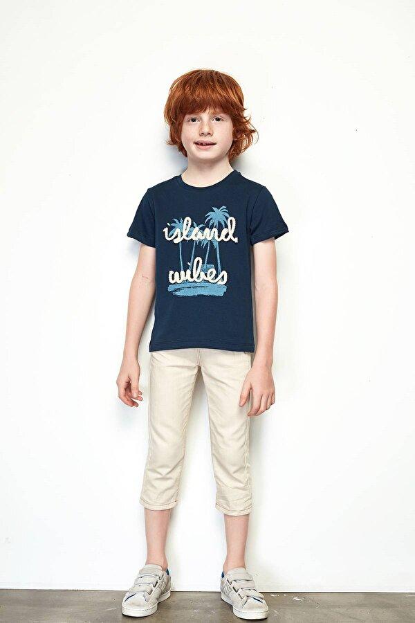 Resim Erkek Çocuk Ekru Pantolon