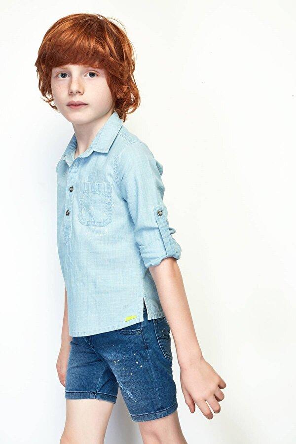 Resim Erkek Çocuk Jean Gömlek