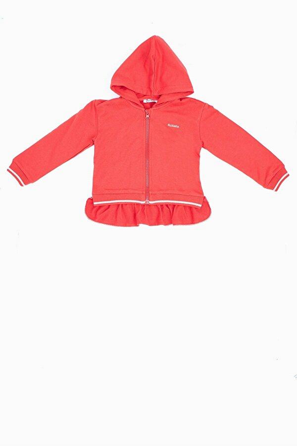 Resim Kız Bebek Kırmızı Eşofman Üstü