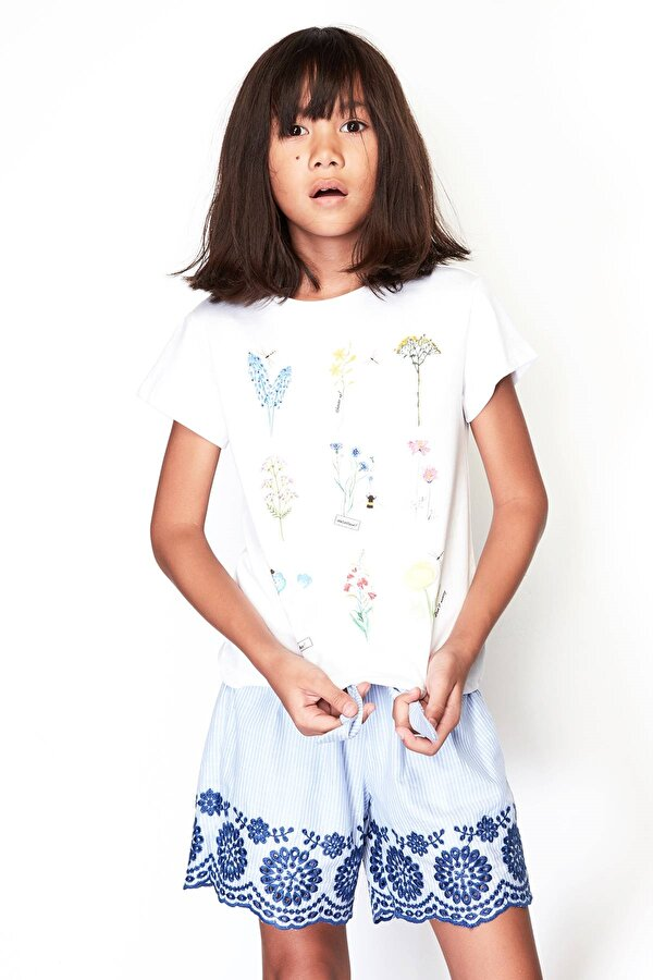 Resim Kız Çocuk Çizgili Şort