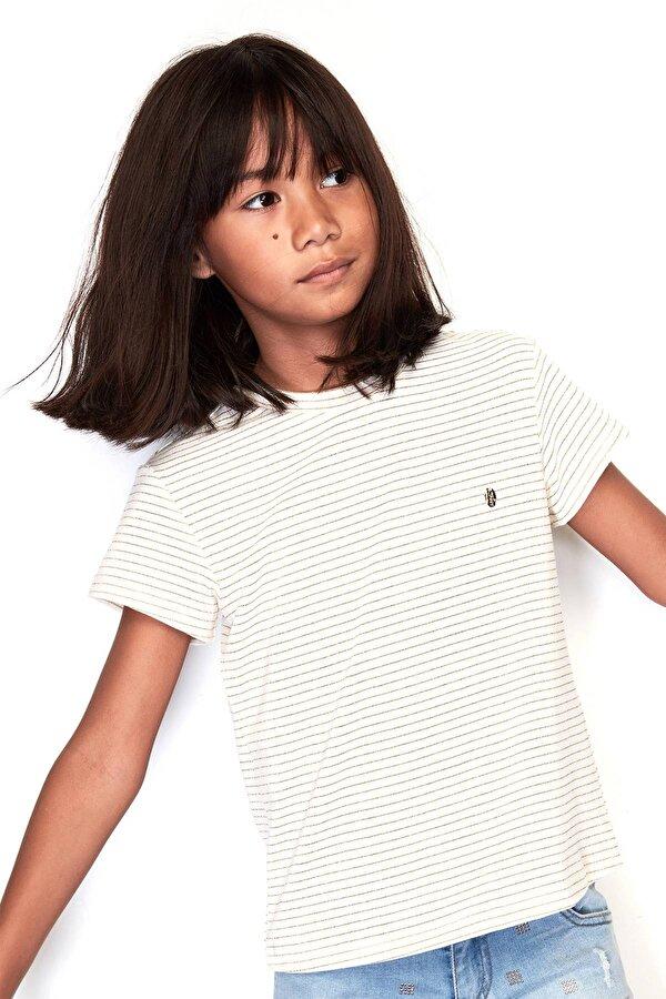 Resim Kız Çocuk Çizgili T-Shirt