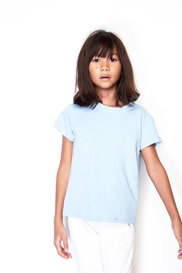 Resim Kız Çocuk Mavi T-Shirt