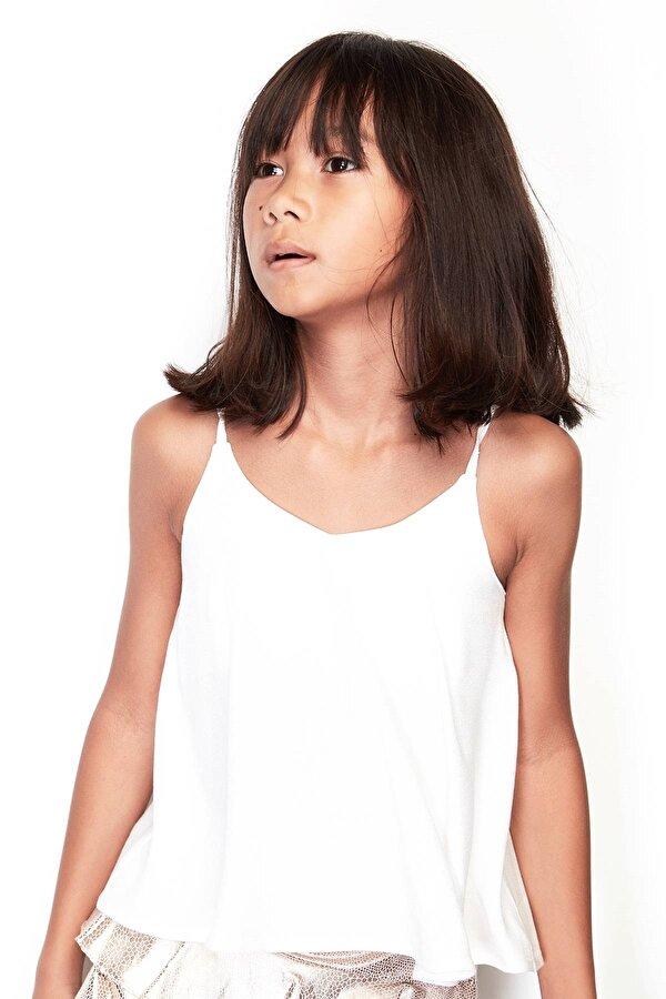 Resim Kız Çocuk Ekru Bluz