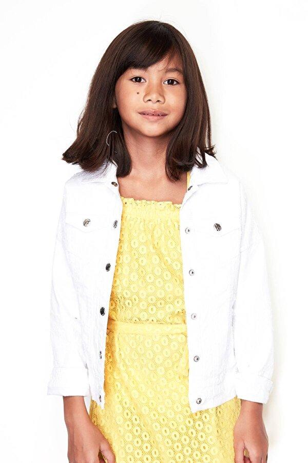 Resim Kız Çocuk Jean Ceket