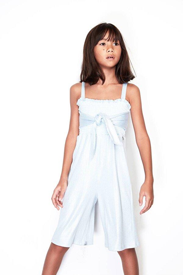 Resim Kız Çocuk Mavi Tulum