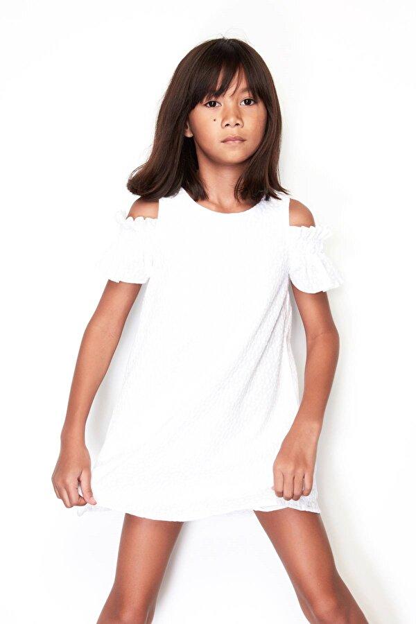 Resim Kız Çocuk Beyaz Elbise
