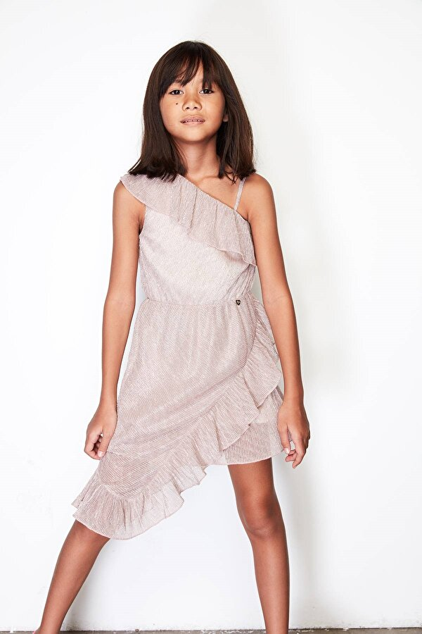 Resim Kız Çocuk Bronz Elbise