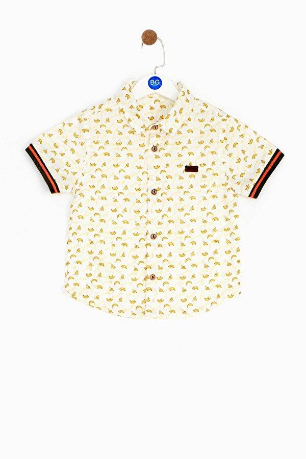 Resim Erkek Bebek Desenli Gömlek