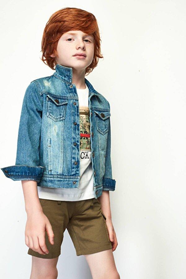 Resim Erkek Çocuk Jean Ceket