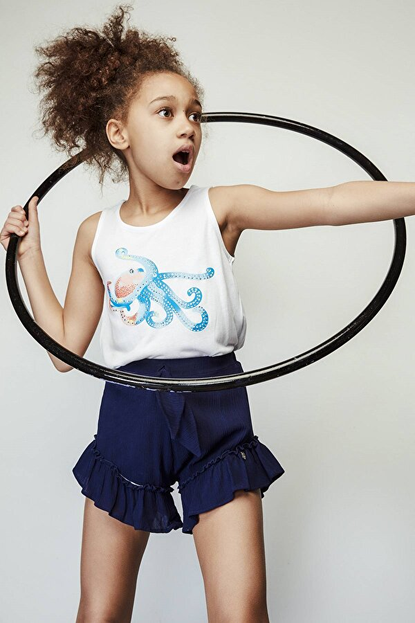 Resim Kız Çocuk Lacivert Şort