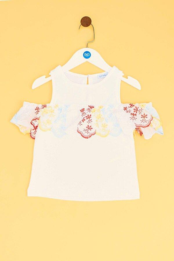 Resim Kız Bebek Beyaz Bluz