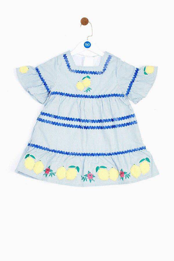 Resim Kız Bebek Çizgili Elbise