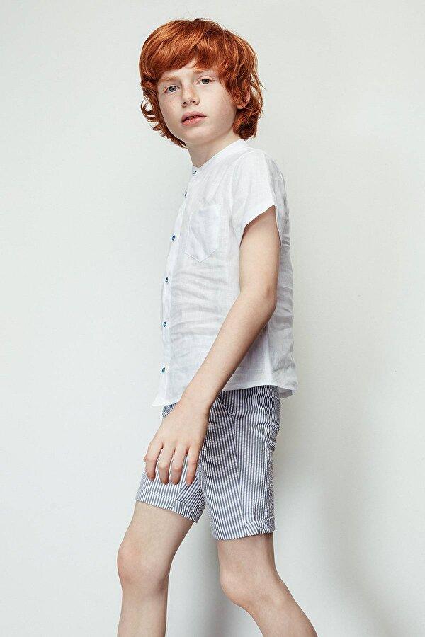 Resim Erkek Çocuk Çizgili Şort