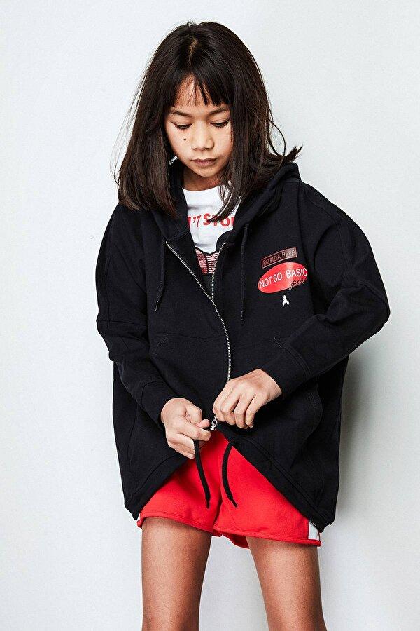 Resim Kız Çocuk Siyah S-Shirt
