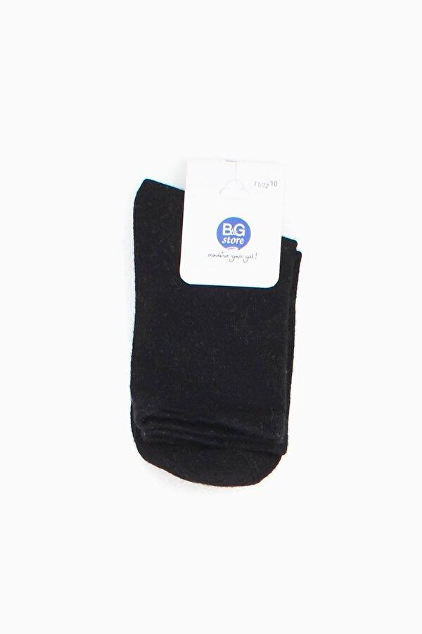 Resim Erkek Çocuk Siyah Çorap