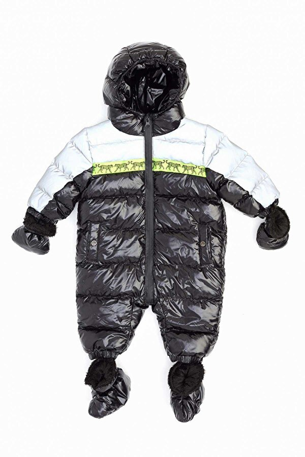 Resim Erkek Bebek Siyah Astronot Mont